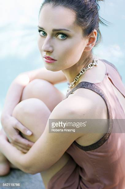 Actress Anna Safroncik is photographed for Self Assignment on May 21 2010 in Rome Italy