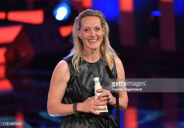 Actress Anna Schudt attends the Bayerische Fernsehpreis award ceremony 2019 at Prinzregententheater on May 24, 2019 in Munich, Germany.