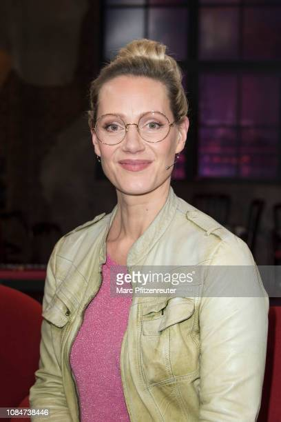 Actress Anna Schudt attends the Koelner Treff TV Show at the WDR Studio on January 18, 2019 in Cologne, Germany.