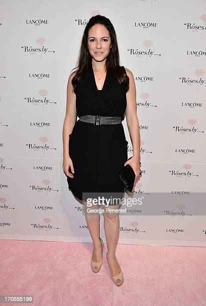Actress Anna Silk attends the Lancome Canada 'Roses By' A Photography Exhibition Opening at First Canadian Place on June 13 2013 in Toronto Canada