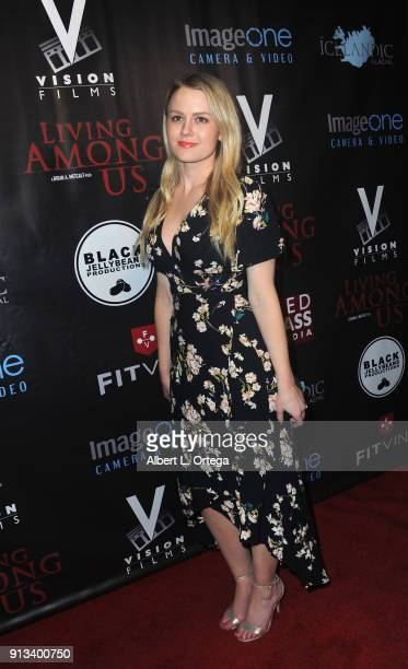 Actress Anna Sophia Berglund arrives for the premiere of Living Among Us held at Ahrya Fine Arts Theater on February 1 2018 in Beverly Hills...