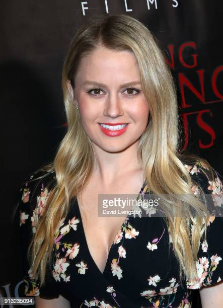 Actress Anna Sophia Berglund attends the premiere of Living Among Us at Ahrya Fine Arts Theater on February 1 2018 in Beverly Hills California