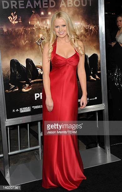 Actress Anna Sophia Berglund attends the 'Project X' Los Angeles premiere held at the Grauman's Chinese Theatre on February 29 2012 in Hollywood...