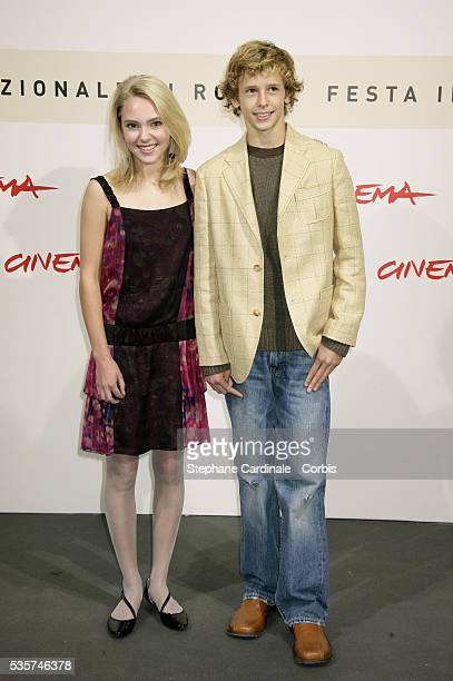 Actress Anna Sophia Robb and actor Cayden Boyd at the photocall of 'Have Dreams' during Rome Film Festival