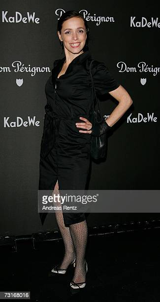 Actress Anna Thalbach attends the Dom Perignon vernissage at the KaDeWe on January 31 2007 in Berlin Germany