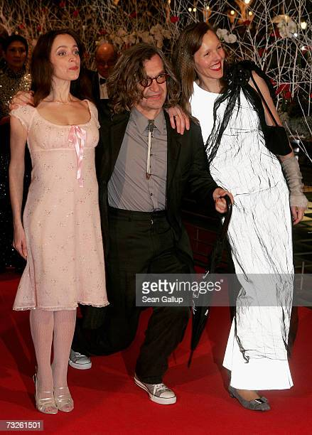 Actress Anna Thalbach director Wim Wenders and wife Donata arrive to attend 'La Vie en Rose' Premiere and the Opening Night of the 57th Berlin...
