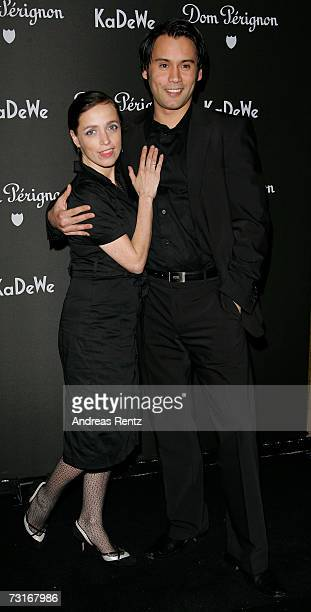 Actress Anna Thalbach with friend Richard Barenberg attends the Dom Perignon vernissage at the KaDeWe on January 31 2007 in Berlin Germany