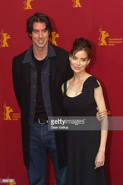Actress Anna Thomson and actor David Wike who star in the recent film Bridget arrive at the Berlinale Film Festival February 7 2002 in Berlin Germany