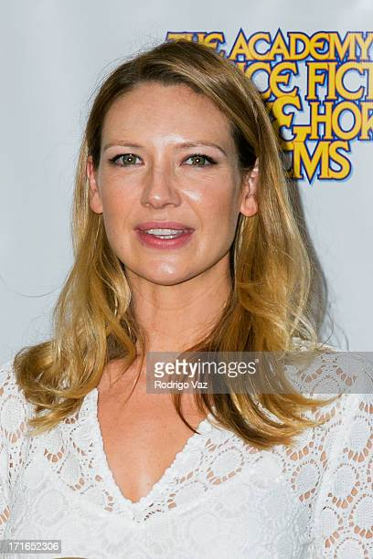 Actress Anna Torv accepts an award at the 39th Annual Saturn Awards at The Castaway on June 26 2013 in Burbank California