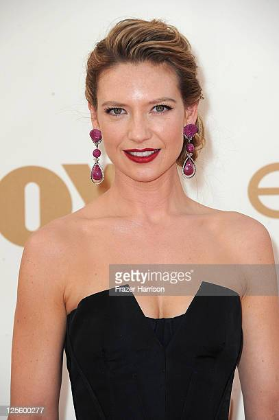 Actress Anna Torv arrives at the 63rd Annual Primetime Emmy Awards held at Nokia Theatre LA LIVE on September 18 2011 in Los Angeles California
