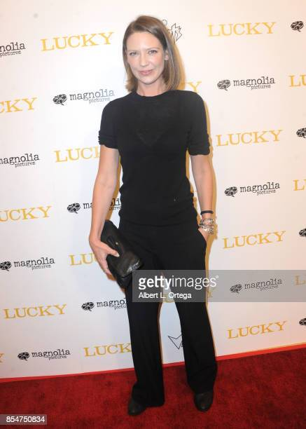 Actress Anna Torv arrives for the Premiere Of Magnolia Pictures' 'Lucky' held at Linwood Dunn Theater on September 26 2017 in Los Angeles California
