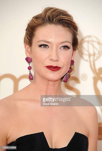 Actress Anna Torv arrives to the 63rd Primetime Emmy Awards at the Nokia Theatre LA Live on September 18 2011 in Los Angeles United States
