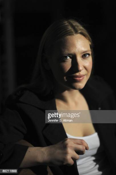 Actress Anna Torv at a portrait sesion on the set of her show Fringe at Silvercup East Studios in Queens NY