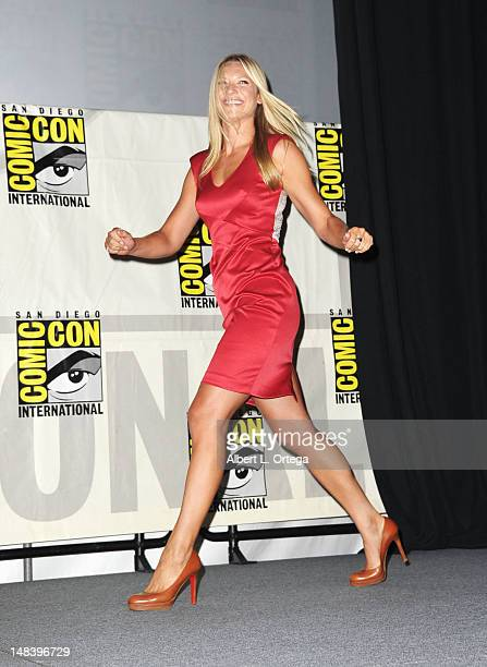 Actress Anna Torv attends 'Fringe' Panel during ComicCon International 2012 at San Diego Convention Center on July 15 2012 in San Diego California