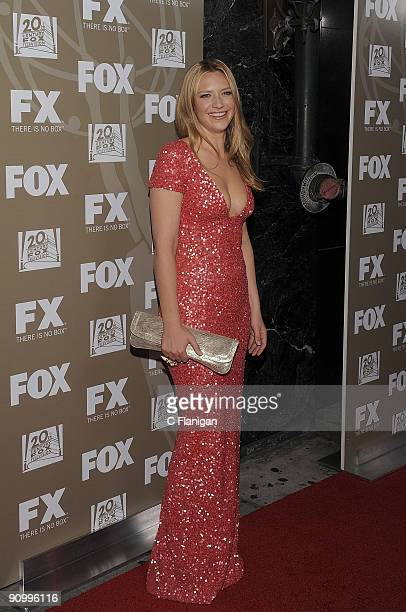 Actress Anna Torv attends the 20th Century Fox and FX 2009 Emmy Party at Cicada on September 20 2009 in Los Angeles California