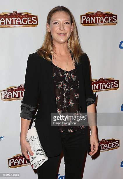 Actress Anna Torv attends the opening night of 'Catch Me If You Can' at the Pantages Theatre on March 12 2013 in Hollywood California