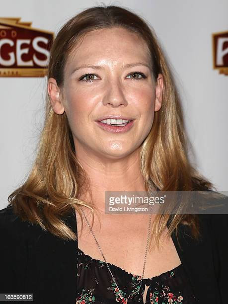 Actress Anna Torv attends the opening night of Catch Me If You Can at the Pantages Theatre on March 12 2013 in Hollywood California