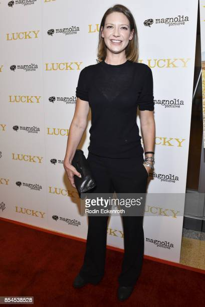 Actress Anna Torv attends the premiere of Magnolia Pictures' 'Lucky' at Linwood Dunn Theater on September 26 2017 in Los Angeles California