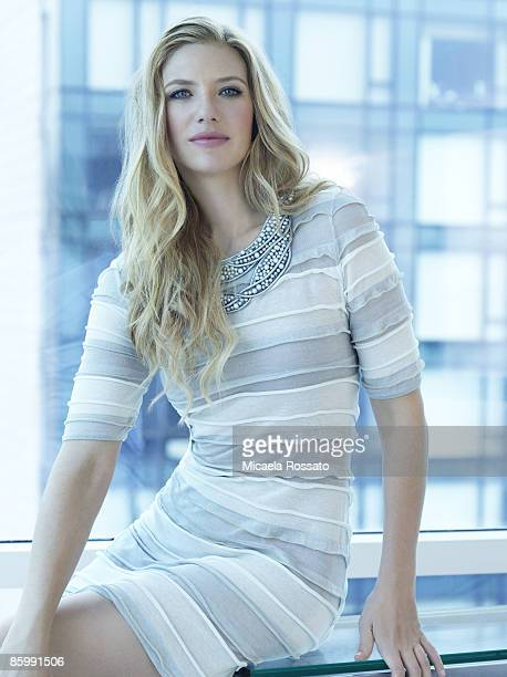 Actress Anna Torv poses at a portrait session for Men's Vogue in New York City