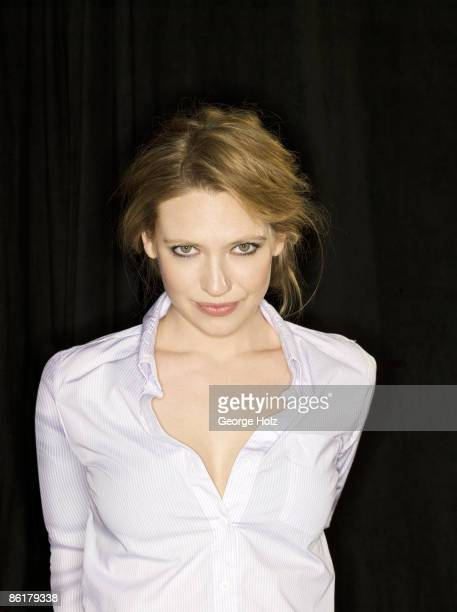 Actress Anna Torv poses at a portrait session for People Magazine on February 8 2009 in New York City