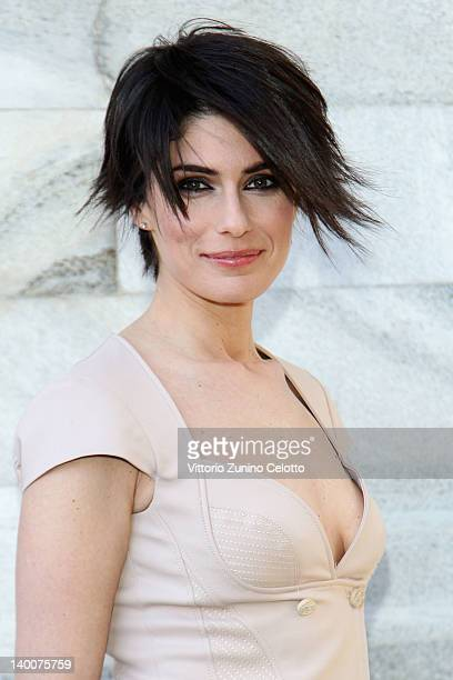 Actress Anna Valle attends the Roberto Cavalli Autumn/Winter 2012/2013 fashion show as part of Milan Womenswear Fashion Week on February 27 2012 in...