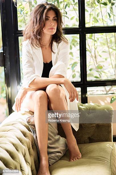 Actress Anna Valle is photographed for Self Assignment on October 10 2014 in Rome Italy