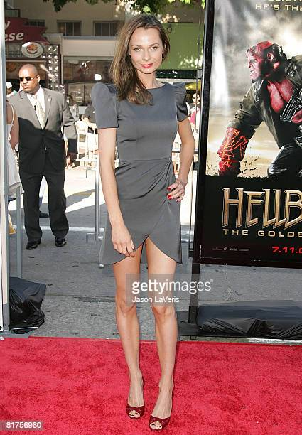 Actress Anna Walton attends the premiere of Universal's Hellboy II The Golden Army at Mann Village Theater on June 28 2008 in Westwood California