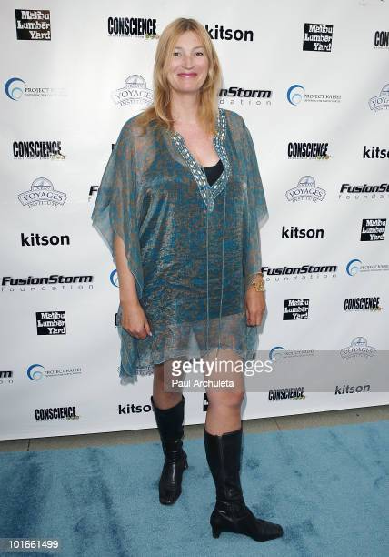 Actress Anna Wilding arrives at the 1st annual My Ocean Planet fundraiser benefitting project Kaisei at The Malibu Lumber Yard on June 5 2010 in...