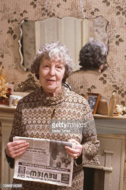 Actress Anna Wing pictured on the set of the BBC soap opera 'EastEnders' circa 1986