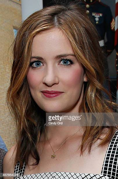 Actress Anna Wood attends the 'Life After Beth' New York Screening after party at Crosby Street Hotel on July 30 2014 in New York City