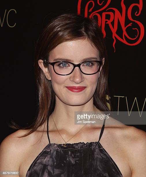 Actress Anna Wood attends the RADiUS TWC and The Cinema Society New York Premiere of 'Horns' at Landmark's Sunshine Cinema on October 27 2014 in New...