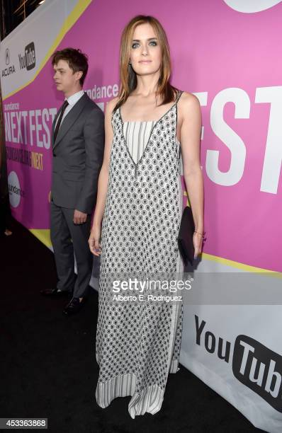 Actress Anna Wood attends the screening of 'Life After Beth' with Father John Misty in concert during Sundance NEXT FEST at The Theatre at Ace Hotel...