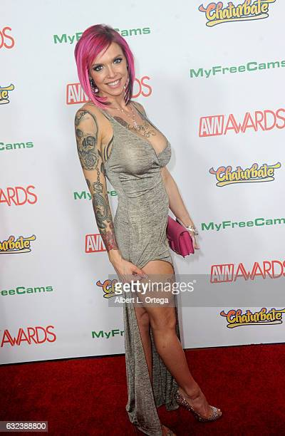 Actress Annabella Peaks arrives at the 2017 Adult Video News Awards held at the Hard Rock Hotel Casino on January 21 2017 in Las Vegas Nevada