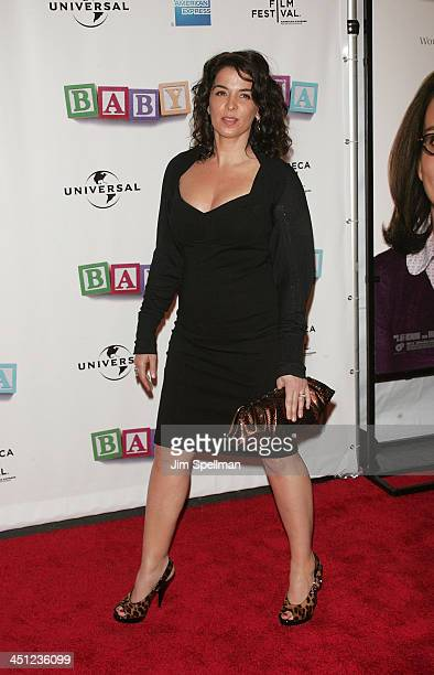 Actress Annabella Sciorra arrives at 7th Annual Tribeca Film Festival Baby Mama Opening Night Premiere at the Ziegfeld Theater on April 23 2008 in...