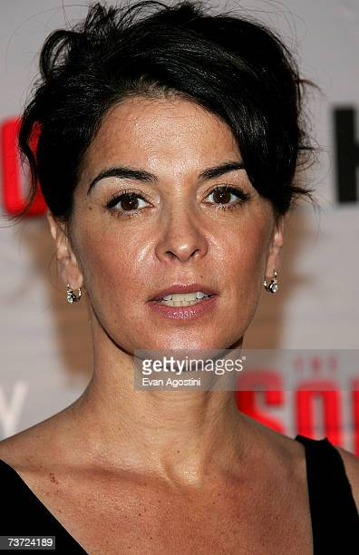 Actress Annabella Sciorra attends the HBO premiere of The Sopranos at Radio City Music Hall on March 27 2007 in New York City
