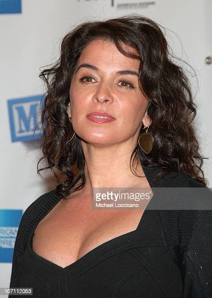 Actress Annabella Sciorra attends the world premiere Of 'Baby Mama' during the opening night Of Tribeca Film Festival at the Ziegfeld Theatre in New...