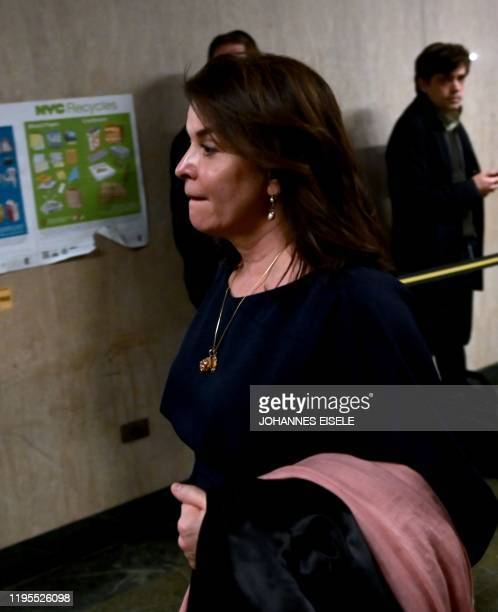 Actress Annabella Sciorra leaves the courtroom in Manhattan Criminal Court on January 23 2020 in New York City The Sopranos actress Annabella Sciorra...