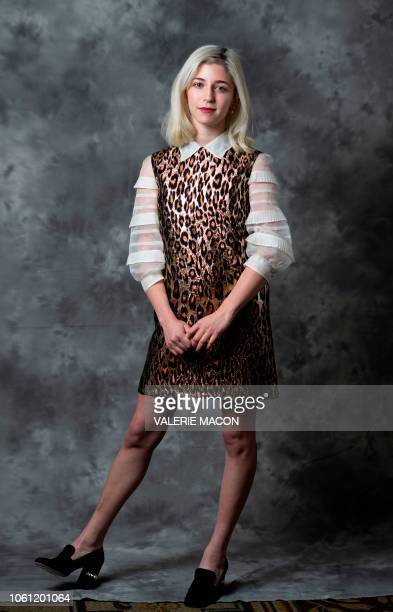 Actress Annabelle Attanasio poses for AFP at the AFI FEST 2018 Presented By Audi Cinema Italian Style KickOff Event and Inaugural Cinecitta Key Award...