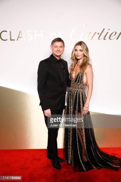 Actress Annabelle Wallis and Cartier CEO Cyrille Vigneron attend the 'Clash De Cartier' Launch Photocall At La Conciergerie In Paris on April 10 2019...