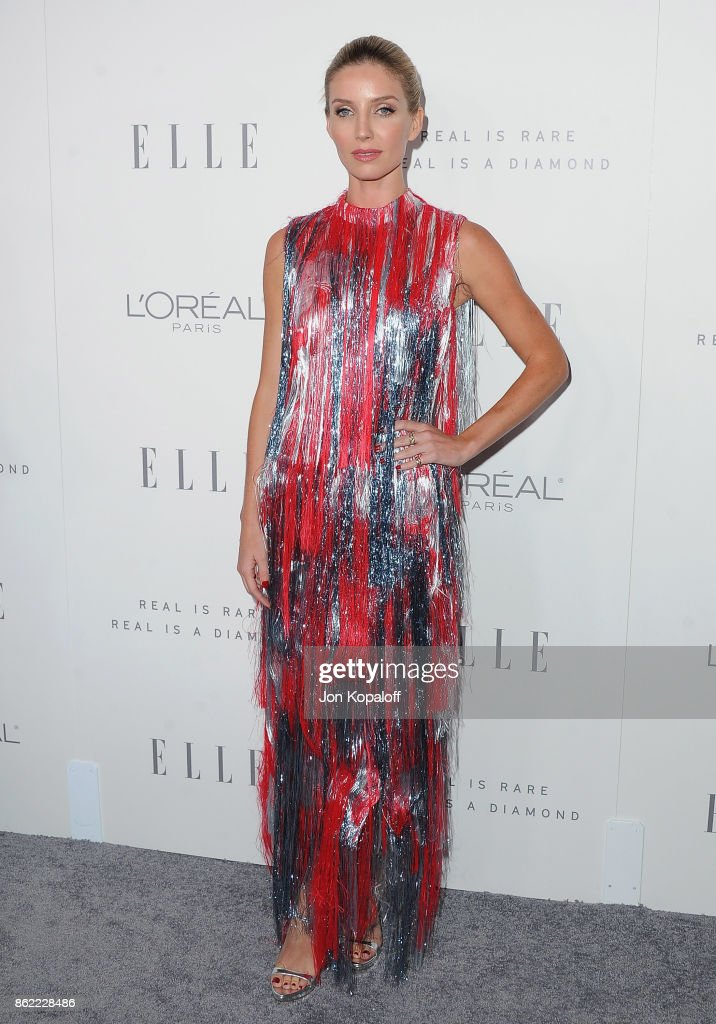 Actress Annabelle Wallis arrives at ELLE's 24th Annual Women in Hollywood Celebration at Four Seasons Hotel Los Angeles at Beverly Hills on October 16, 2017 in Los Angeles, California.