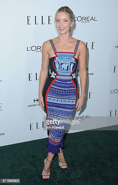 Actress Annabelle Wallis arrives at the 23rd Annual ELLE Women In Hollywood Awards at Four Seasons Hotel Los Angeles at Beverly Hills on October 24...
