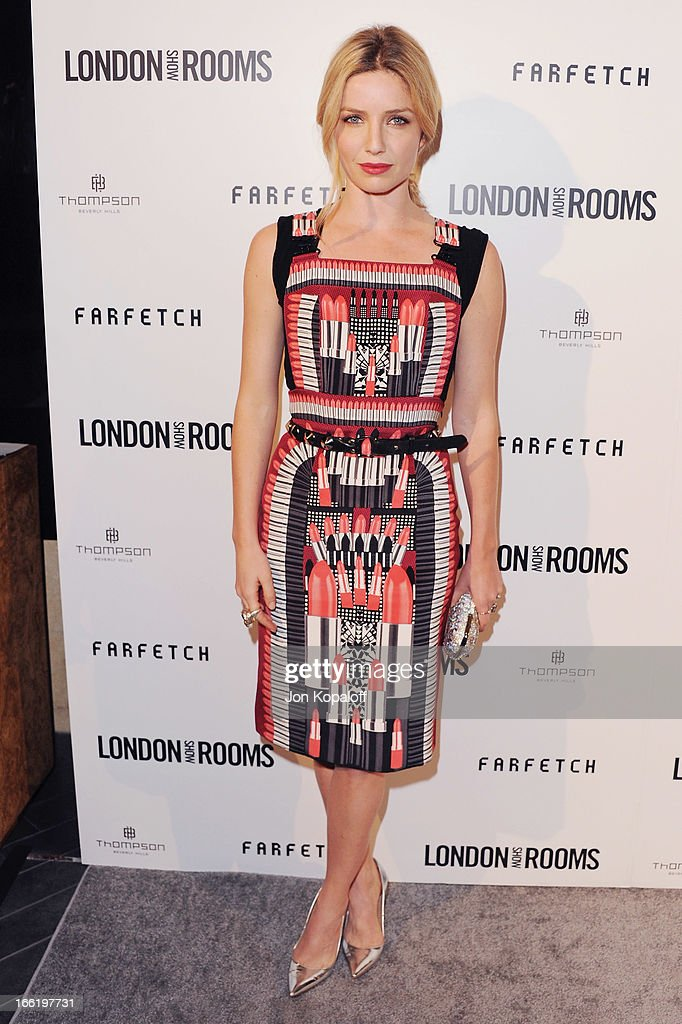 Actress Annabelle Wallis arrives at the British Fashion Council Celebrates 'London Show Rooms LA' at Thompson Hotel on April 9, 2013 in Beverly Hills, California.