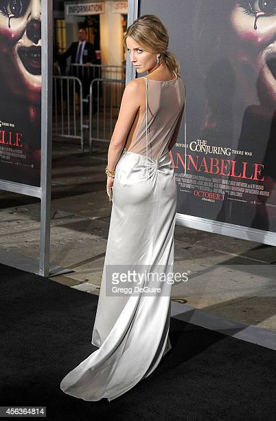 Actress Annabelle Wallis arrives at the Los Angeles Special Screening Of New Line Cinema's Annabelle at TCL Chinese Theatre on September 29 2014 in...