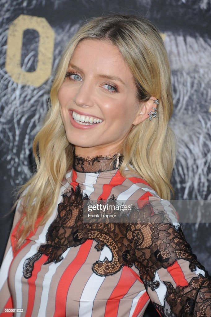 Actress Annabelle Wallis arrives at the premiere of Warner Bros. Pictures' 'King Arthur: Legend Of The Sword' at TCL Chinese Theatre on May 8, 2017 in Hollywood, California.