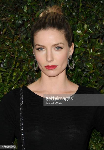 Actress Annabelle Wallis attends the Chanel and Charles Finch preOscar dinner at Madeo Restaurant on March 1 2014 in Los Angeles California