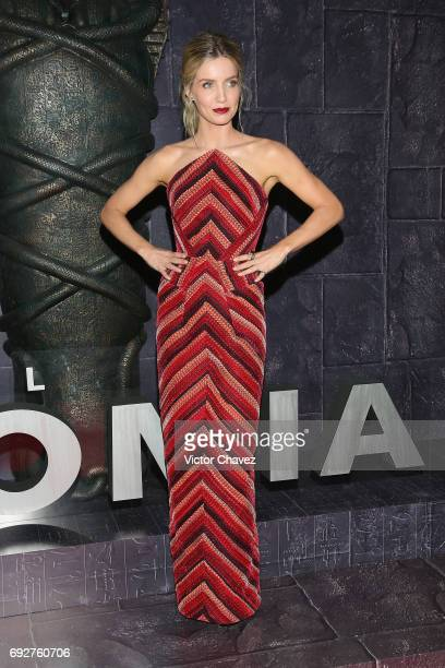 Actress Annabelle Wallis attends 'The Mummy' Mexico City premiere at Plaza Carso on June 5 2017 in Mexico City Mexico