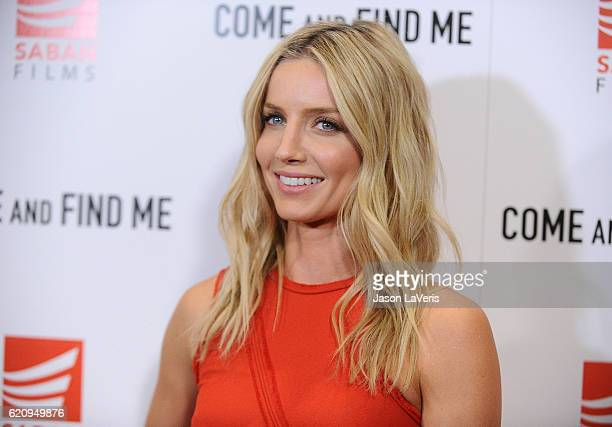 Actress Annabelle Wallis attends the premiere of Come and Find Me at Pacific Theatre at The Grove on November 3 2016 in Los Angeles California