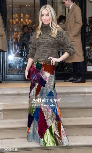 Actress Annabelle Wallis is seen leaving Ralph Lauren Spring/Summer 2019 fashion show during New York Fashion Week at Ralph's Coffee at Ralph Lauren...