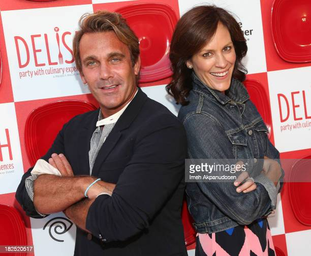 Actress Annabeth Gish and Patrick O'Neal attend Project Angel Food's 2nd Annual DELISH Tasting Experience at Siren Studios on September 29 2013 in...