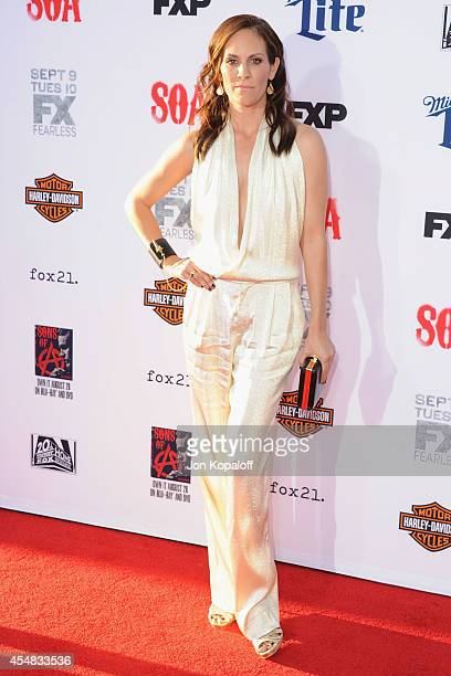 Actress Annabeth Gish arrives at FX's Sons Of Anarchy Premiere at TCL Chinese Theatre on September 6 2014 in Hollywood California